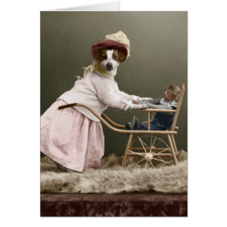 Funny Dog Mother's Day Greeting Card
