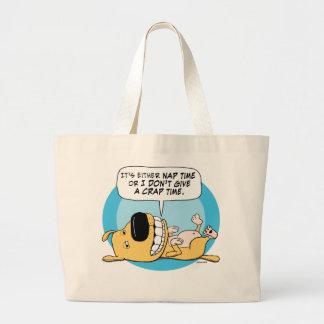 Funny Dog Nap or Don't Give a Crap Tote Bag