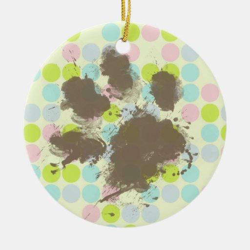 Funny Dog Owner Gift; Pastel Colors, Polka Dot Ornaments