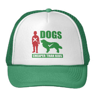 Funny Dog Owners Dogs vs Kids Slogan Cap