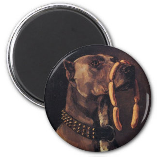 Funny Dog painting Magnets
