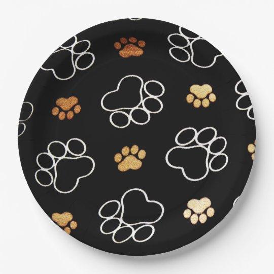 Funny Dog PawPrints On Black Paper Plates  sc 1 st  Zazzle & Funny Pizza Plates   Zazzle.co.uk