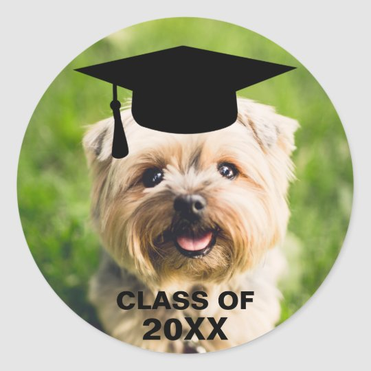 Funny Dog Photo Graduation Personalised Class of Classic