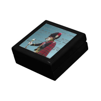 Funny dog pipe major small square gift box