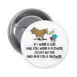 Funny Dog Poem 6 Cm Round Badge