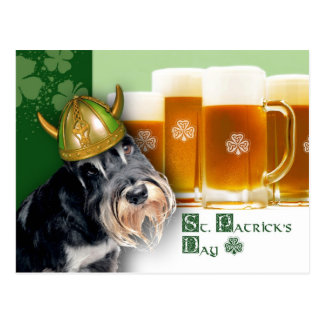 Funny Dog. St. Patrick's Day Fun Postcards