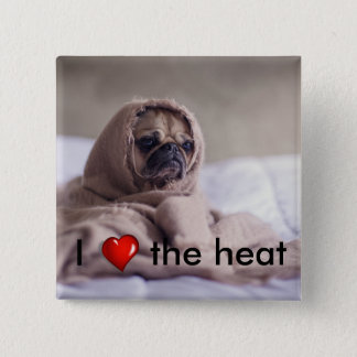 Funny doggy 15 cm square badge