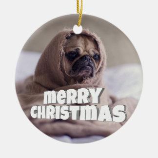 Funny doggy christmas ornament