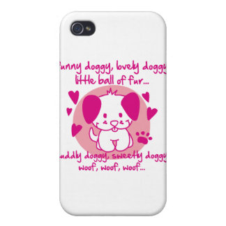 funny doggy, lovely doggy, little ball of fur iPhone 4 covers
