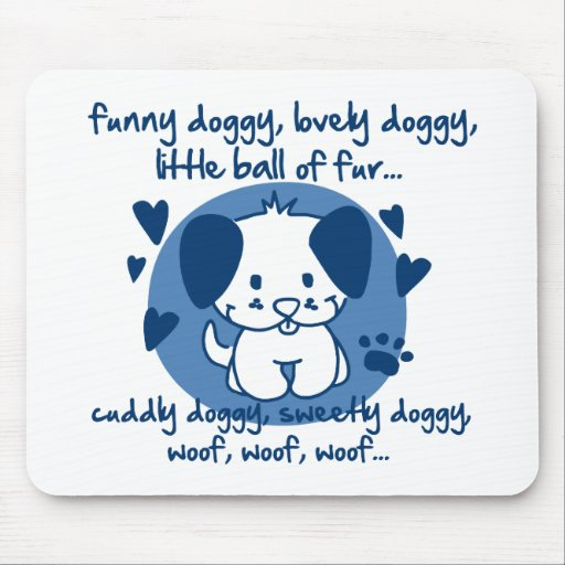 funny doggy, lovely doggy, little ball of fur mouse pad
