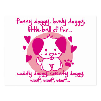 funny doggy lovely doggy little ball of fur post cards
