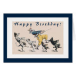 Funny Dogs and Clown 50th Birthday Cards