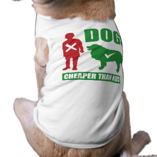 Funny Dogs are Cheaper than Kids Sleeveless Dog Shirt