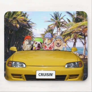 Funny Dogs Cruisin' Mouse Mat