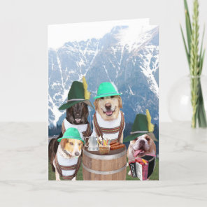 Funny Dogs German Birthday Card