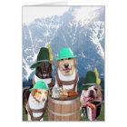 Funny Dogs German Birthday Card