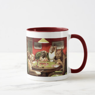 Funny Dogs Playing Poker Coffee Mug Mugs