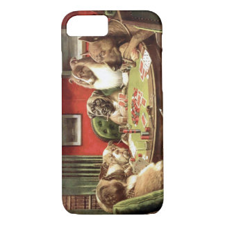 Funny Dogs Playing Poker iPhone 7 case