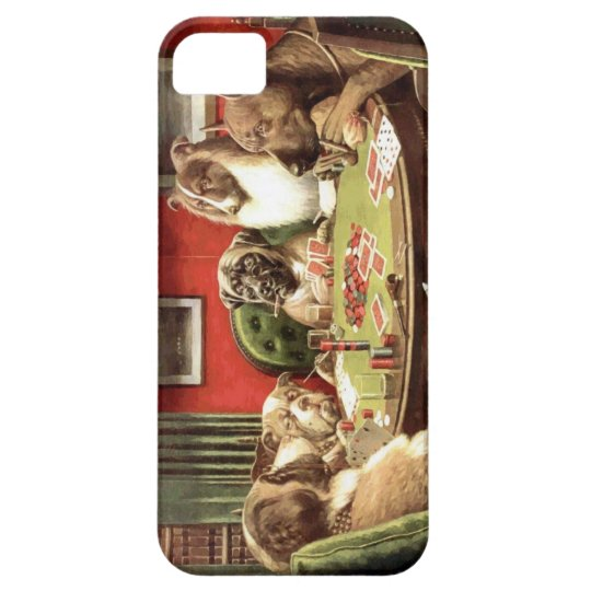 Funny Dogs Playing Poker Iphone Cover Case