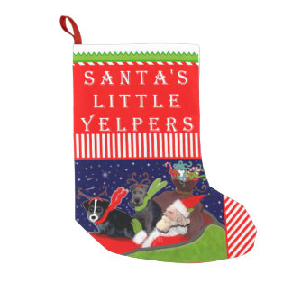 Funny Dogs Small Christmas Stocking