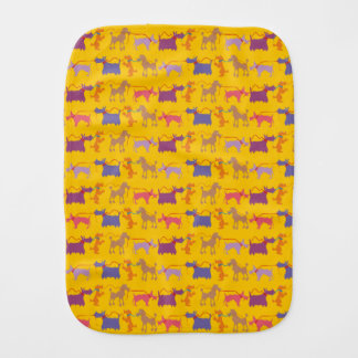 Funny dogs with lead. burp cloth
