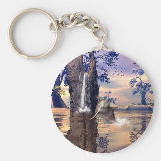 Funny dolphin key ring