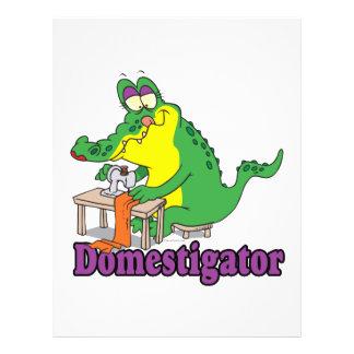 funny domesticated alligator gator full color flyer