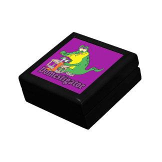 funny domesticated alligator gator small square gift box