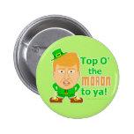 Funny Donald Trump Leprechaun St Patricks 2016 6 Cm Round Badge
