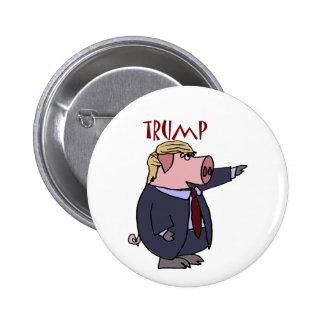 Funny Donald Trump Pig Political Cartoon 6 Cm Round Badge