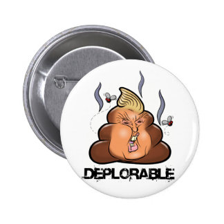 Funny Donald Trump - Trumpy-Poo Poo Emoji Icon 6 Cm Round Badge