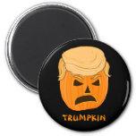 Funny Donald Trumpkin Pumpkin Jack-o-lantern 6 Cm Round Magnet