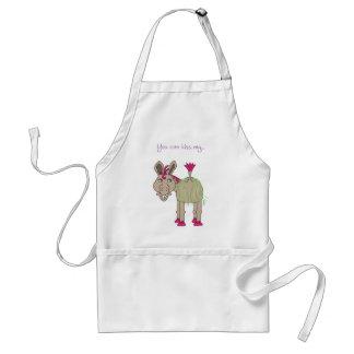 Funny donkey apron