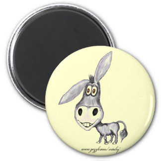 Funny donkey magnet