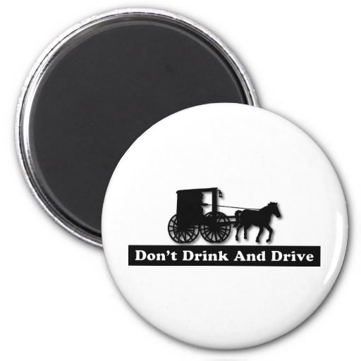 Funny Don't Drink and Drive Refrigerator Magnet