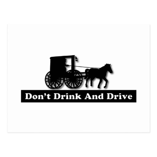 Funny Don't Drink and Drive Postcards