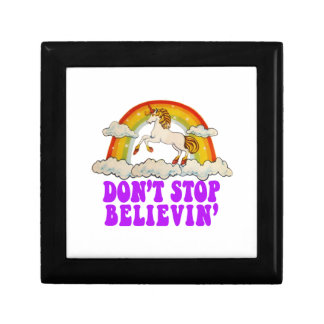 Funny Don't Stop Believin' in Unicorns Gift Box