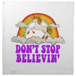 Funny Don't Stop Believin' in Unicorns Napkin