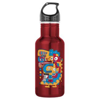 Funny doodle 532 ml water bottle