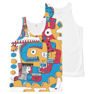 Funny doodle All-Over print tank top