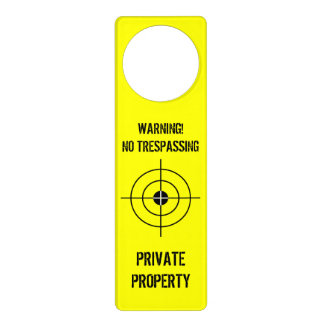 Funny door hanger for boys room | Private property