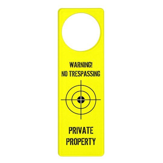 Funny door hanger for boys room | Private