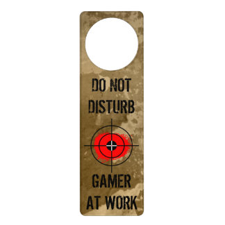Funny door hanger for gamers | Do not disturb!