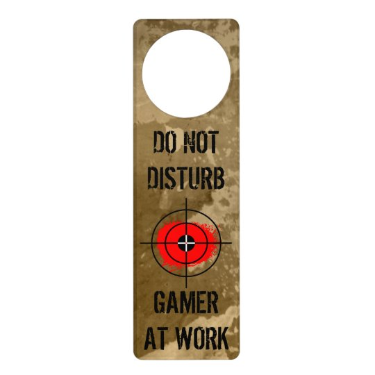 Funny door hanger for gamers | Do not