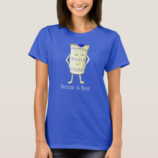 Funny Double Cream Breast Feeding Humour Design T-Shirt