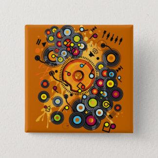 Funny_Doughnut 15 Cm Square Badge