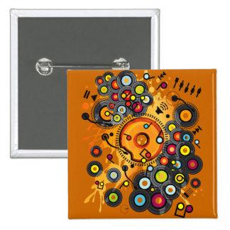 Funny_Doughnut Pinback Button