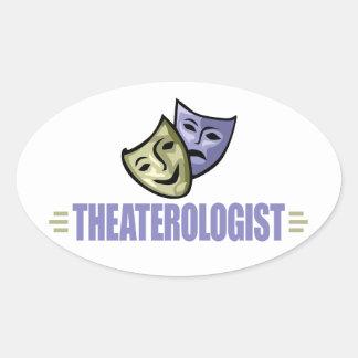 Funny Drama Theater Oval Sticker