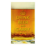 Funny drink beer and carry on pack of standard business cards