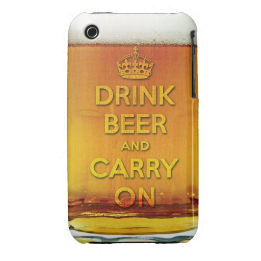 Funny drink beer and carry on iPhone 3 covers